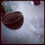 Salstentan firade jag med vin!