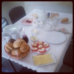 Frukost på Zielona Villa.