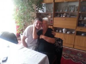 Micael med fru Helena, mötet efter 22 år.